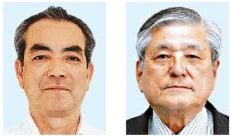 伊集盛久氏(右) 當山全伸氏(左)