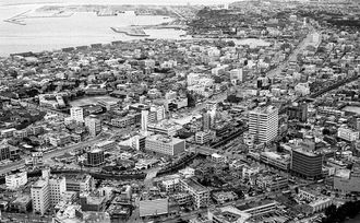 復帰前日の那覇市中心部=1972年5月14日