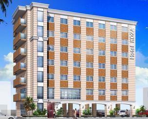 8月にオープンするビジネスホテル「ホテルコザ」の外観イメージ図