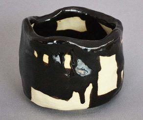 國吉清雲さんの作品「茶碗『黒への想い』」