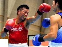 わかやま国体:ボクシング成年ミドル級 高江洲、健闘の準V 日本代表と打ち合い