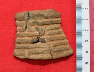 北谷町伊平の平安山原B遺跡で出土した東日本の縄文時代晩期の「大洞系土器」