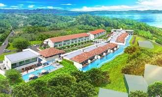 2020年3月に開業予定のコンドミニアム型ホテル「コルディオ琉球テラス&ヴィラズ古宇利」のイメージ図(提供)