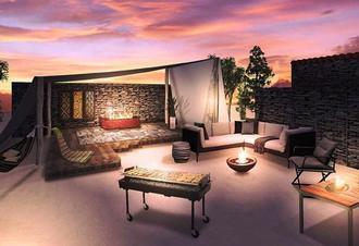 「炎」をテーマにした石垣島初のグランピングリゾート「ヨーカブシ」のグランピングエリアのイメージ図