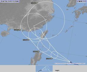 台風14号進路予想図(気象庁HPより)