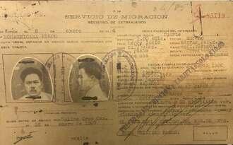 ナロユキさんの曽祖父・小橋川栄光さんの外国人登録証