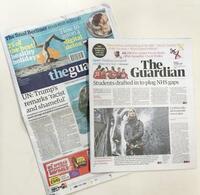 英ガーディアン紙、紙面を小型化 経費削減でタブロイド判に