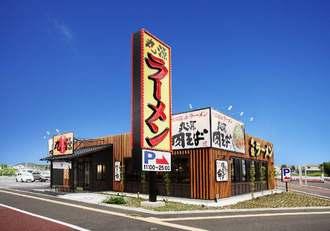 丸源ラーメンの店舗外観のイメージ図(同社提供)