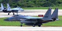 米軍嘉手納基地のF15、グアムから20機帰還 住宅密集地を旋回