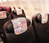 機内で「沖縄らしさ」 JTA新機材の座席カバーに紅型