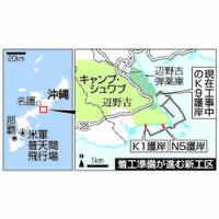 辺野古新基地:新護岸10月着手へ準備 政府、衆院選影響も考慮