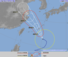 20日正午現在の台風10号の進路予想図(気象庁HP)