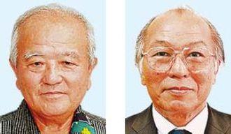 (左から)喜納昌春氏、上間明氏