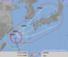 台風18号進路予想図・72時間(気象庁HPより)