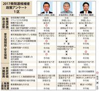 消費増税の是非割れる 衆院選2017【沖縄1区】政策アンケート