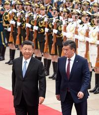 中国、キルギスと関係強化 北京で首脳会談