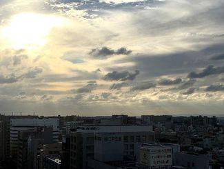 過ごしやすいおだやかな1日でした。明日は雨のようです