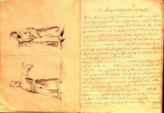 新確認された英国人クリフォードが記した「訪琉日記」の文面(The diary by Lieutenant Herbert Clifford© Trustees of the National Museum of the Royal Navy)=国立英国海軍博物館資料