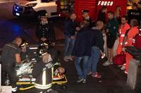 ローマ地下鉄駅で転倒20人負傷 ロシアのサッカーファンか