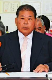 石垣市長選:宮良操氏が政策発表 軍事基地「いらない」