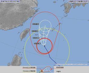 台風8号の進路図(気象庁ホームページから)