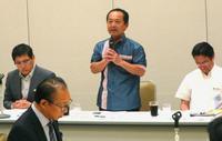 名護市長、経団連に企業進出の協力要請 福井沖縄相も同席