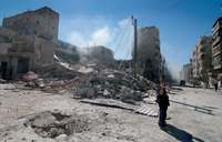 シリア空爆で米ロ応酬 国連安保理が緊急会合