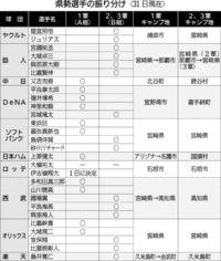 [プロ野球]/県勢11人 1軍スタート