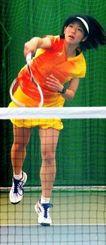 ソフトテニスのアジア選手権に日本代表として出場する神谷絵梨奈(ヨネックス提供)