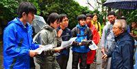 広島の高校生、沖縄戦の足跡を歩く 地図を頼りに4日で50キロ、食事は栄養補助食品のみで挑戦