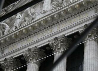 ニューヨーク証券取引所=8月(UPI=共同)