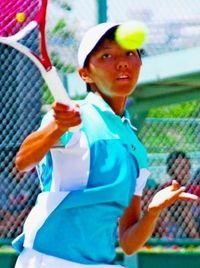 九州中学総体:テニス女子個人単 我那覇3位