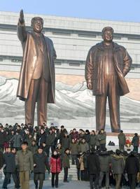 総書記誕生日で市民ら献花 北朝鮮、米朝会談報道せず
