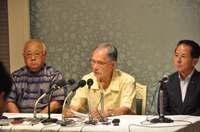 沖縄県知事選2018:自民選考委「すべて佐喜真さんでまとまった」