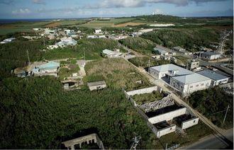 重要文化的景観選定を答申された「北大東島の燐鉱山由来の文化的景観」=北大東村(村教育委員会提供)