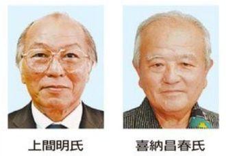 喜納氏(右)と上間氏
