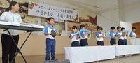 三線、エイサー、琉舞も披露 ボリビアのヌエバ校で学習発表