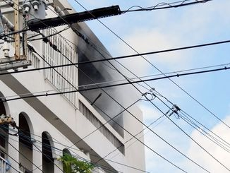 アパートの一室から出火=14日午後4時34分、那覇市若狭