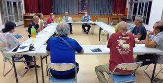 「パーントゥプナハ」の中止を決めた島尻自治会の評議委員会=9月24日、宮古島市・パーントゥの里会館