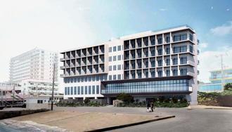 宮古島市の平良港に面した「HOTEL LOCUS」の完成イメージ(沖縄UDS提供)
