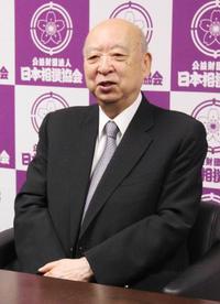 相撲協会評議員会議長に海老沢氏 池坊氏の後任