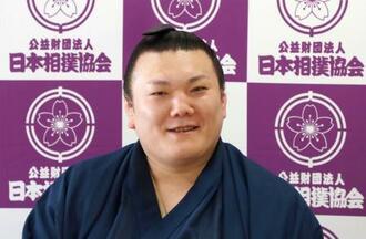 オンラインで記者会見した元関脇、勢の春日山親方=25日、両国国技館(日本相撲協会提供)
