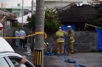 民家で火災、焼け跡から男性1人遺体 嘉手納署が住人とみて捜査