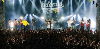 「以心電信」などのヒット曲を披露し、ライブのとりを飾ったORANGE RANGE=沖縄市・ミュージックタウン音市場(Photo by Keishi Kise / Ryo Shimabukuro)
