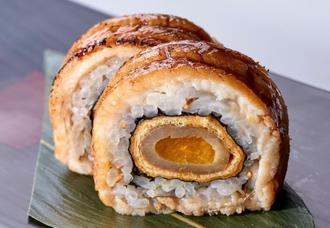 田場さんが出品した「炙り大阪穴子の巻き寿司」