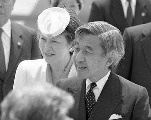糸満市での全国植樹祭に出席するため、戦後の天皇・皇后両陛下としては初の来県=1993年4月26日