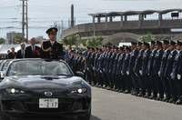 安全・安心な沖縄の実現へ 年始恒例、県警視閲式