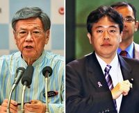 翁長知事、鶴保氏に「なぜ沖縄相という役職があるのか伝えたい」