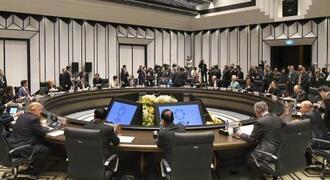 実質的な討議が始まったAPEC首脳会議=11日、ベトナム・ダナン(共同)