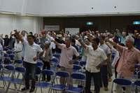 オスプレイ配備5年、撤回求め100人が誓い「諦めずに頑張ろう」